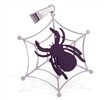Stainless steel web pendant with black colored spider