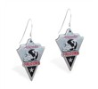 Mspiercing Sterling Silver Earrings With Official Licensed Pewter NFL Charm, Atlanta Falcons
