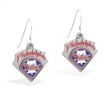 Mspiercing Sterling Silver Earrings With Official Licensed Pewter MLB Charms, Philadelphia Phillies