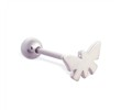 Straight barbell with butterfly top, 14 ga