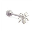 Straight barbell with spider top, 14 ga