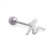 Straight Barbell with Trucker Girl Top, 14 Ga