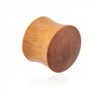 Pair Of Natural Chang Wood Saddle Plugs