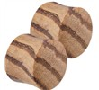 Pair Of Organic Natural Zebra Wood Saddle Plugs