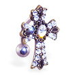 Reversed jeweled gothic cross