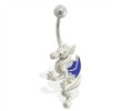 Winged dragon belly ring