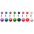 Navel ring with acrylic basketball ends