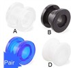 Pair Of All UV Light Reactive Acrylic Screw Fit Flesh Tunnels