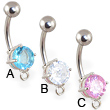 Design your own jeweled belly button ring