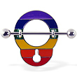 Rainbow handcuff nipple shield