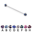 Multi Gem Ball Long Barbell (Industrial Barbell), 16 Ga