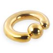 Gold Tone captive bead, 4ga
