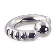 Fancy 4 notch captive bead ring, 4 ga