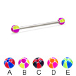 Long Barbell (Industrial Barbell) with Balloon Balls, 12 Ga