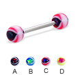 Eye ball straight barbell, 14 ga