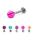 Wave ball labret, 12 ga