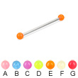 Long barbell (industrial barbell) with glow-in-the-dark balls, 12 ga