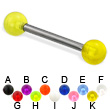 UV ball titanium straight barbell, 12 ga