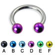 Colored ball circular barbell, 12 ga