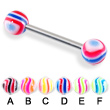 Swirl tongue barbell, 14 ga