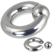 Spring ball captive bead ring, 0 ga