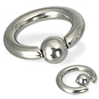 Spring Ball Captive Bead Ring, 6 Ga