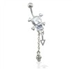 Skull Belly Ring with Dangles