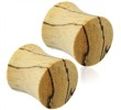 Pair Of Organic Tamarind Wood Saddle Plugs