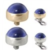 14K Gold Internally Threaded Dermal Top Ball with 4mm Lab Created Sapphire Cabochon