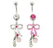 Dangling Bow Belly Ring