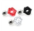 Steel cartilage barbell with jeweled LIP top, 16 ga