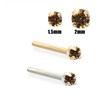 14K Gold Cognac Diamond Nose Stud