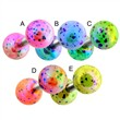 Surgical Steel Cartilage/Tragus Barbell with balls with multi colored splatter.