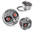 Pair Of Vintage Owl with Gemmed Red Eyes Surgical Steel Screw Fit Plugs