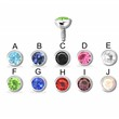 16G Surgical Steel Internally Threaded Round Press Fit Dermal Top