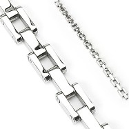 316L Stainless Steel Square Link Chain Bracelet