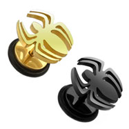 Pair Of Fake Plugs with Spider Top, 16 Ga