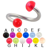 Acrylic ball and half ball twister, 12 ga