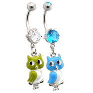 Owl Belly Ring
