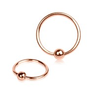 14G Rose Gold Tone Captive Bead Ring