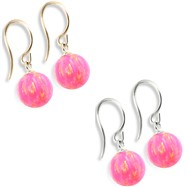 14K (Nickle Free) Gold Opal Earrings, Pink