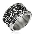 316L Stainless Steel Knight Armor Wide Ring