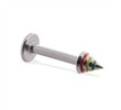 Labret stud with rasta cone, 14 ga