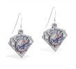 Mspiercing Sterling Silver Earrings With Official Licensed Pewter MLB Charms, Los Angeles Dodgers