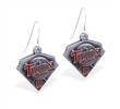 Mspiercing Sterling Silver Earrings With Official Licensed Pewter MLB Charms, Minnesota Twins