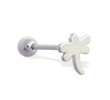 Straight barbell with dragonfly top, 14 ga