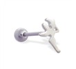 Straight barbell with fairy top, 14 ga