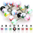 Butterfly logo straight barbell, 14 ga