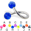 Marble ball twisted barbell, 12 ga