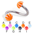 Beach half ball spiral barbell, 12 ga